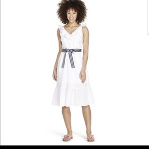 Vineyard Vines Target White Ruffle Dress NWT Sm